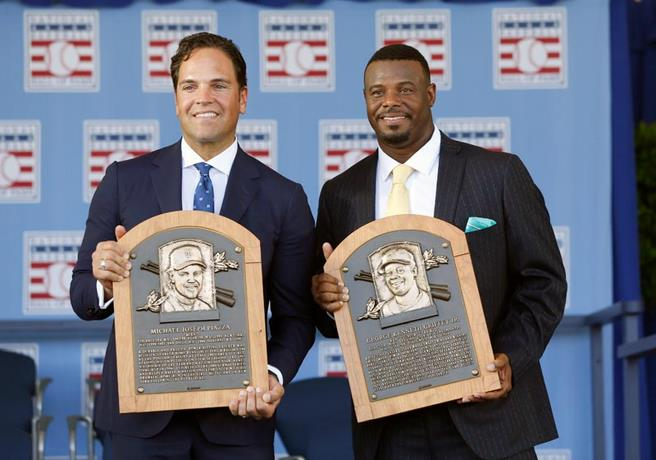 ¡Ken Griffey Jr. y Mike Piazza!