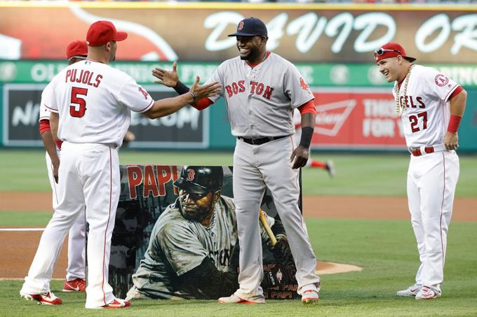 Angelinos le rindieron un pintoresco homenaje a David Ortiz