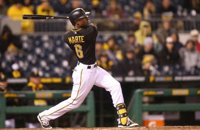 Starling Marte batea un grand slam y empuja 5