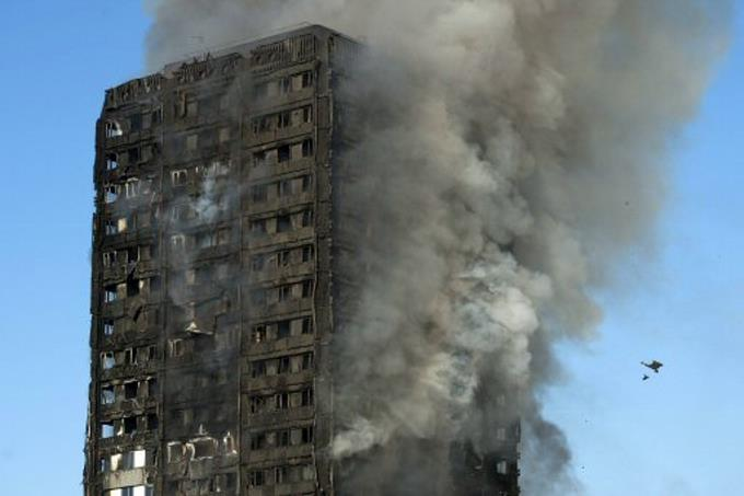 Una nevera defectuosa provocó incendio en torre de Londres