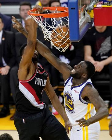 NBA Warriors le ganan el segundo a los Blazers