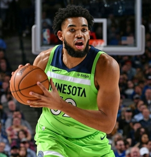 Towns está en quinteto ideal de los T-Wolves