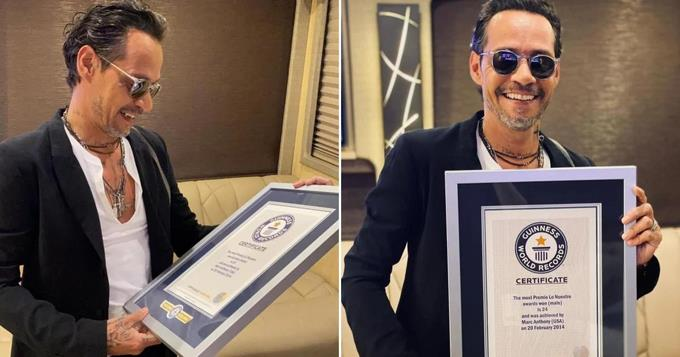 Marc Anthony recibe su tercer Récord Guinnes