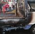 Vehículo se incendia en una estación de GLP cercana al lugar del incendio de Polyplas