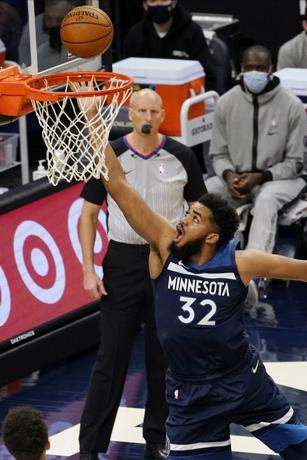 Karl-Anthony Towns anota 25 y consigue 14 rebotes, Minnesota cae