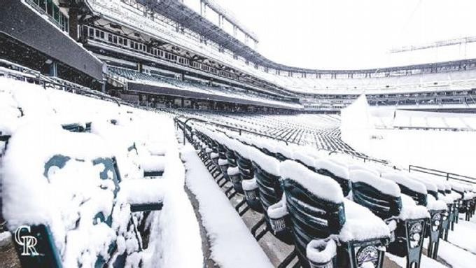Nevadas obligan a aplazar partidos entre Rockies-Mets y el Red Sox-White Sox